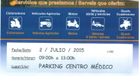 July 2 from 9h to 13h in the parking lot of the medical center.
