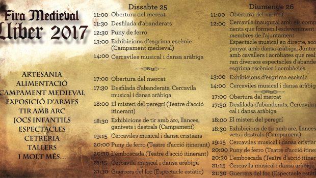 El 25 i 26 de març tens una cita a Llíber amb una nova edició de la Fira Medieval amb artesania, espectacles, tallers, jocs… i molt més!