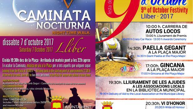 Vos recordem que, a més, del cap de setmana de la II FESTA DEL LLAURADOR, on vos esperem a tots als carrers de Llíber, Octubre vindrà també amb moltes […]