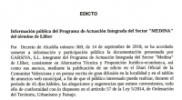 EDICTE: Programa d'Actuació Integrada Sector Medina  EDICTO