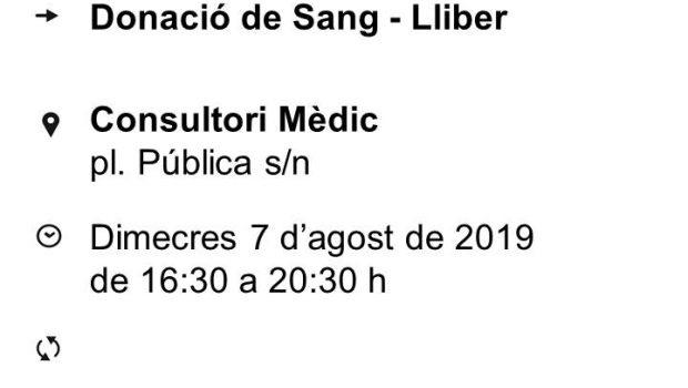 El próximo 7 de agosto en el Consultorio Médico